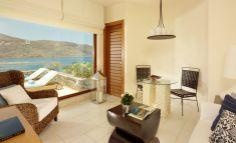 Blu Palace Resort & Spa, Greece - mkv design. Open hotel room, modern resort design