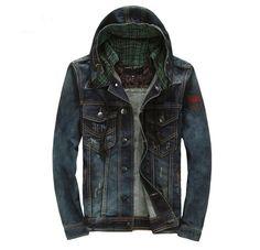 Classic UK Hooded Denim Jacket
