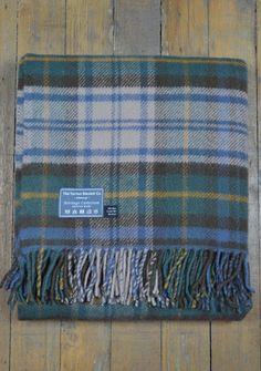 New Wool Blanket in Dress Gordon Antique Tartan