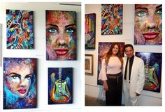 4 of my paintings @ Nina Torres Gallery Miami Fl. Curator Paul Cabezas and Liliana Marin. #streetartist #cool #portrait #originalpaintings #fineart #urban #LES #nyc #modern #abstract #lifestyle #homedecor #contemporary #colorful #exhibit #gallery #artshow #event #biennale #artbasel