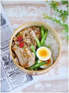 Lunch [plum ginger Bento] of 2015.9.8   bending duck lunch Wappa