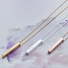 I've just found Personalised Bar Necklace. If you're looking to give an extra special gift, this beautiful personalised bar necklace, from the Lisa Angel Jewellery Collection, is a must-have. Gold Bar Necklace, Engraved Necklace, Personalized Necklace, Initial Necklace, Gold Jewelry, Silver Earrings, Jewelry Necklaces, Women Jewelry, Silver Ring