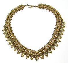 AMARYLLIS SuperDuo Beadwork Necklace  tutorial by bead4me on Etsy, $19.00