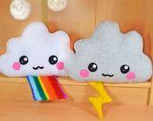 Cloud plush toy / novelty soft pillow / kawaii cushion / rainbow