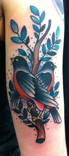 Traditional bird tattoo