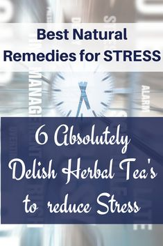 "6 ABSOLUTELY DELISH HERBAL TEAS TO REDUCE STRESS. Here is a lovely quote just for you, which sums it all up for me ""Strange how a teapot can represent at the same time the comforts of solitude and the pleasures of company. – Anonymous""#stress / #anxiety / #tea / #herbaltea / acute stress / chronic stress / manage stress / stress / anxiety / natural remedies / stress management / stressed out / herbal tea / herbal tea benefits / best herbal tea"