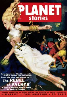 """Dedicated to all things """"geek retro:"""" the science fiction/fantasy/horror fandom of the past including pin up art, novel covers, pulp magazines, and comics. Science Fiction Magazines, Pulp Fiction Art, Pulp Art, Sci Fi Books, Comic Books, Comic Art, Planet Comics, Crime, Strange Adventure"""