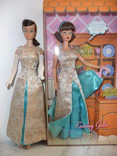 "My collection perso myriam ""Evening gala"" original and copy Vintage Barbie Kleidung, Vintage Barbie Clothes, Vintage Dresses, Gala Dresses, Formal Dresses, Barbie Collection, My Collection, Barbie Skipper, Old Dolls"