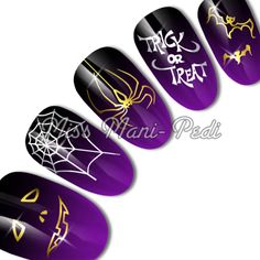 Halloween water slide decals code: C049. Available from www.missmanipedinailart.com