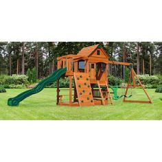 @Overstock - Bring the fun to your backyard with this Patriot III All Cedar Swingset. This swing set features an awesome upper clubhouse, a two level play deck a sand box, four swings, a ten foot slide, a rock wall and bonus monkey bars.http://www.overstock.com/Sports-Toys/Backyard-Discovery-Patriot-III-All-Cedar-Swingset-Includes-Bonus-Monkey-Bars/7302258/product.html?CID=214117 $1,099.00