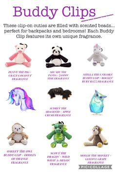 Buddy Clips can be used by kids and adults these cute little guys come pre scented check them out here https://kimberleygraham.scentsy.co.uk/