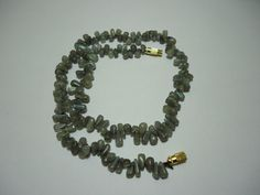 "BEAUTIFUL NATURAL LABRADORITE SMOOTH DROPS SHAPE BEADS NECKLACE 17"" #kantaincorporation #Smooth"