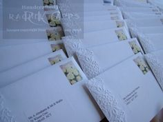 Embossed envelopes add an element of style and elegance to any invitation. #wedding #envelope #invitationsbydeisgn
