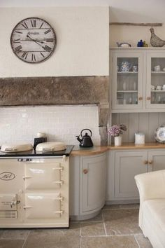 Warm yourself by the AGA every morning before rustling up the family breakfast. Warm yourself by the AGA every morning before rustling up the family breakfast. Cottage Kitchens, Home Kitchens, Cottage Homes, Aga Kitchen, Kitchen Ideas, Kitchen Modern, Kitchen Country, Kitchen Cabinets, Modern Ovens