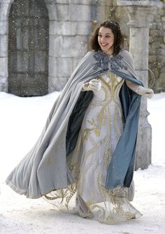 Another gown for a fairy tale--what to wear to the Snow Queen's ball!    Original info: Lady of Shalott (just the idea for the sheer, embroidered overskirt) (yes, and *maybe* the cloak - but for when she's already in the boat and her blood is turning to ice)