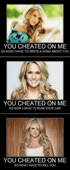 hahahahaha best..... song.. ever!!!! (gunpowder and lead, miranda lambert) haha