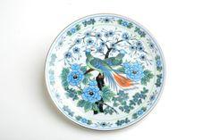 Plato decorativo vintage de porcelana decorado con por Brocantebcn