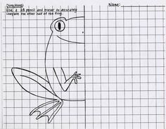 """Have students finish the second half of the frog and then have them apply a color theory to it or fill with unique patterns.  Students can write the """"factual"""" information about this new breed of frog they discovered at he bottom if they finish early."""