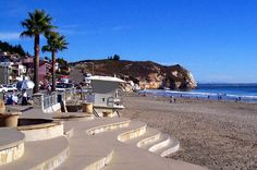 Avila Beach in San Luis Obispo, CA. Joe Mama's on the boardwalk is the best place to get a cup of coffee, especially when my son-in-law Evan worked there. Beach Vacation Rentals, Vacation Trips, Vacations, Avila Beach, San Luis Obispo County, California Dreamin', Beach Fun, Travel Inspiration, Beautiful Places