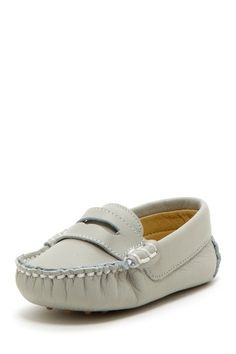Petit Pas Leather Stitched Detail Pennyloafer on HauteLook