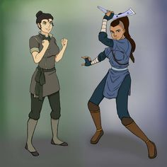 Avatar Genderbend: Sokka and Bolin by jessypet92.deviantart.com on @deviantART this is truly the BEST GENDERBEND EVER!!!'