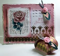 Chocolate Baroque Design Team: Harlequin Rose card and gift box (by Anne)