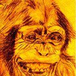 Papas Affe Zeichnung 26x19   1967 Monkeys, Art, Painting Art, Photo Illustration