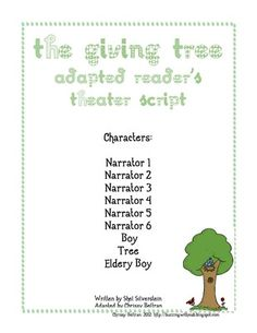 The Giving Tree Reader's Theater from Ms Chrissy Bs on TeachersNotebook.com -  (5 pages)