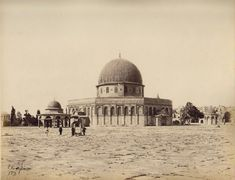 Dome of the Rock-قبة الصخرة: A view in 1860