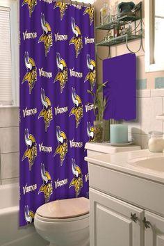 "Minnesota Vikings NFL 72""x 72"" Shower Curtain"
