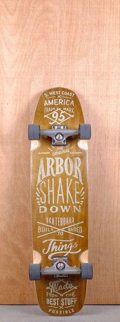 "Arbor 36"" Shakedown Koa Longboard Complete"