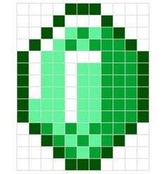 Minecraft designs for Hama perler beads // printable PDF