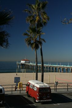 Manhattan Beach, California via flickr.   We got engaged right on that stretch of beach.