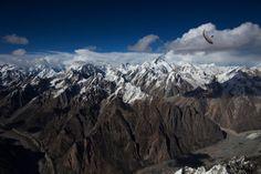 Sailing over the mountains Photographer: Krystle Wright  Athlete: Hernan Pitocco  Location: Hushe, Baltoro, Pakistan