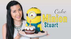 Tarta Minion Stuart - tutorial paso a paso | fondant cake