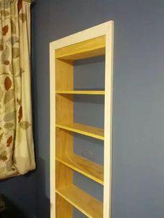 Bookshelf Closet, Hidden Door Bookcase, Bookcase Plans, Bookshelves, Hidden Doors, Shoe Storage Furniture, Ikea Storage, Bathroom Storage, Storage Ideas