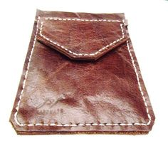 Brown  Leather Pocket Protector sleeve small