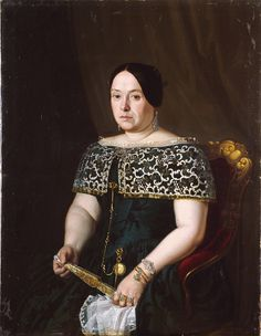 "MADRAZO AND KUNTZ Federico (1815-1894) --SPANISH-- ""Mrs. of Simón of the MOUNTAIN RANGE""."