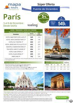 Paris desde Sevilla Puente de Diciembre 5% venta anticipada hasta 31/10, desde 549 ultimo minuto - http://zocotours.com/paris-desde-sevilla-puente-de-diciembre-5-venta-anticipada-hasta-3110-desde-549-ultimo-minuto/