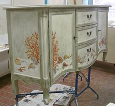 painted sideboard by Cipriani