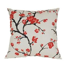 Decorative Cherry Blossom Throw Pillow - Beige  Cherry blossom décor is a great way to life, beauty and peace to your home.  You can find all kinds of cherry blossom decorating ideas by looking at cherry blossom wall art, cherry blossom accent pillows and other cherry blossom decorative accents.  Effortlessly use this type of décor in your bedroom, living room and bathroom and perhaps gain some inspiration from it to spruce up areas of your home.