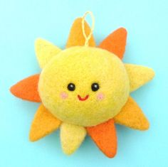Soft Happy Sun Nursery Decoration, Mobile Charm.