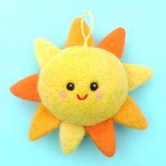 Soft Happy Sun Nursery Decoration, Mobile Charm.