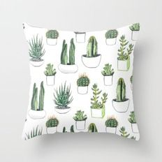 watercolour cacti and succulent Throw Pillow https://society6.com/product/watercolour-cacti-and-succulent_pillow#s6-2410254p26a18v126a25v193