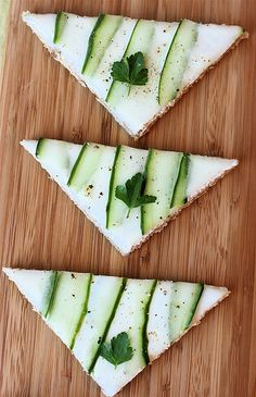 Chloe's Inspiration – Tea Sandwiches-- gorgeous would be good for a St Patrick's Day too!