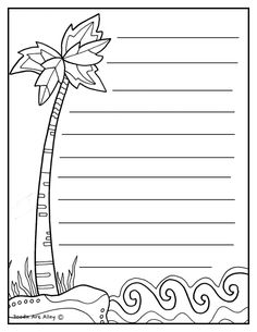 Writing & Journal Paper doodles and Coloring pages at Classroom Doodles from Doodle Art Alley Summer Coloring Pages, Bible Coloring Pages, Pirate Activities, Preschool Activities, Planner Doodles, Printing Practice, Notebook Cover Design, Frame Layout, Journal Paper