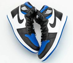 """The Air Jordan 1 Retro High OG is gonna be a smash hit once again in This """"Game Royal"""" colorway is tentatively set for a release on May For a closer look, tap the link in our bio. Nike Air Jordans, Air Jordan Sneakers, Retro Jordans, Jordans Sneakers, Mens Jordans, Girl Jordans, Jordan Retro 1, Jordan 1 Retro High, Retro Sneakers"""