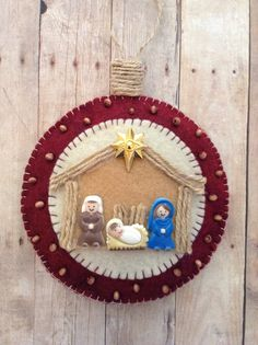 Nativity Ornament / Felt Nativity Christmas Tree by CraftsbyBeba