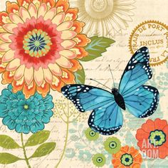 Butterfly Ballad I Art Print by Jennifer Brinley at Art.com
