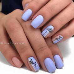 Square Nail Designs, Short Nail Designs, Cute Nail Designs, Winter Nail Designs, Pretty Nails, Cute Nails, My Nails, Work Nails, Short Square Nails